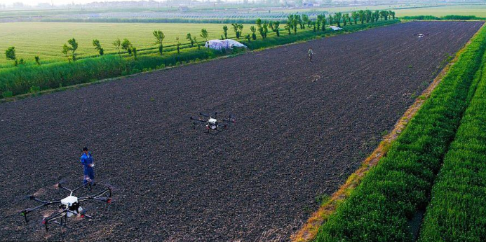 In agriculture we can take samples with drones
